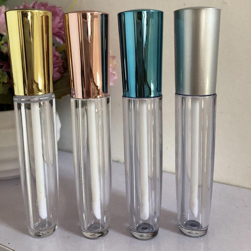 Speicherflaschen Gläser 100pcs 5ml Lip Gloss Rohre mit Zauberstab Gummistopper, nachfüllbare Behälter, leerer Spender