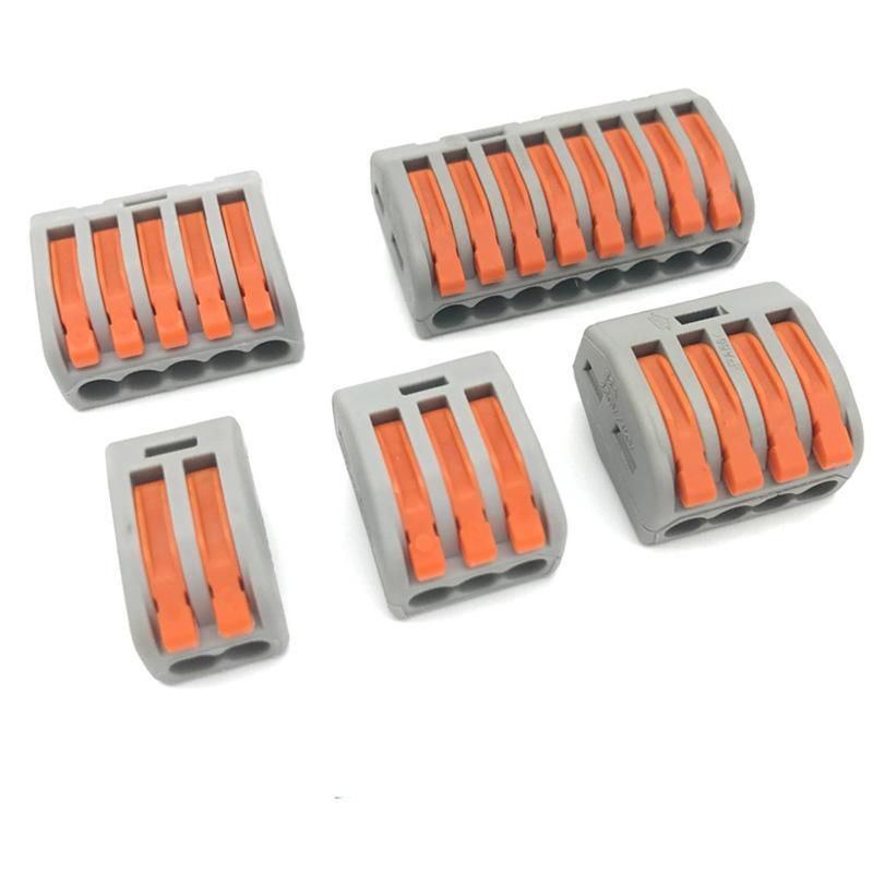 Universal-Kabel-Kabel-Anschlüsse Fast Compact Drahtanschluss Drahtklemmen Blockhebelmutter JK2102XB