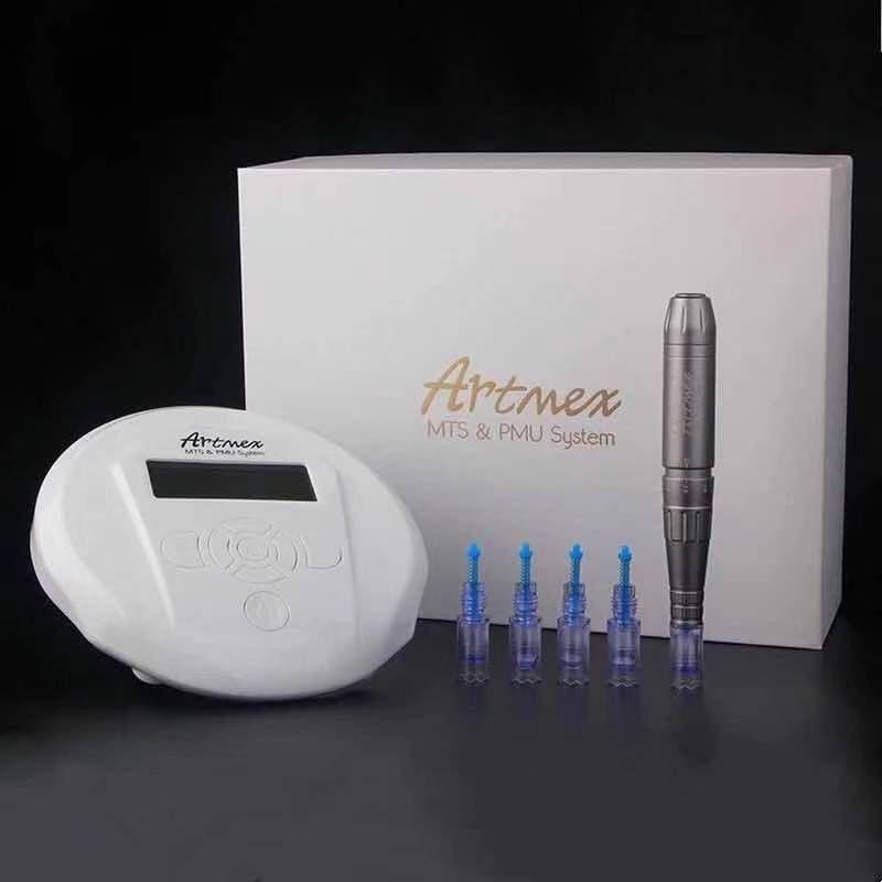 MTS PMU Artmex V6 로타리 문신 기계 영구 화장 눈썹 눈썹 Derma Pen Dervice Micropigmentation
