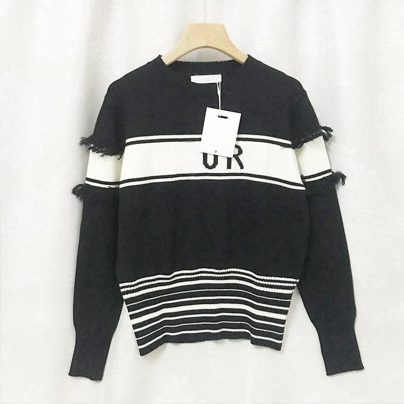 815 2021 primavera autunno maglione pullover di alta qualità marca di alta qualità STESSO STESSO STESSORE REGOLARE A MANICHE A MANICHE LUNGA GRICK NECK DONNA Vestiti Xue