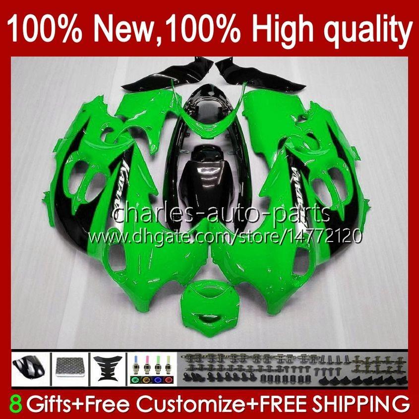 Kropp för Suzuki Katana GSX600F GSXF600 GSXF750 GSXF 600 750 CC 98 99 00 01 02 29NO.2 600cc 750cc GSX750F GSXF-600 GSXF-750 1998 1999 2000 2001 2002 Fairing Green Factory