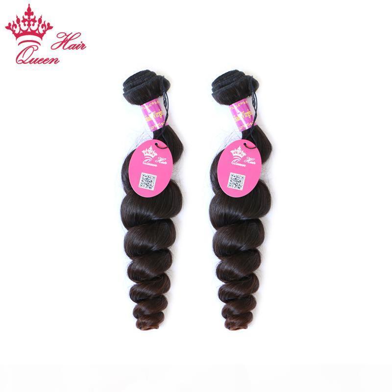 """Королева волосы бразильские девственницы человеческие волосы свободно волна человеческий пачка натуральный цвет 2шт. Лот смешанная длина 12 """"-28"""""""