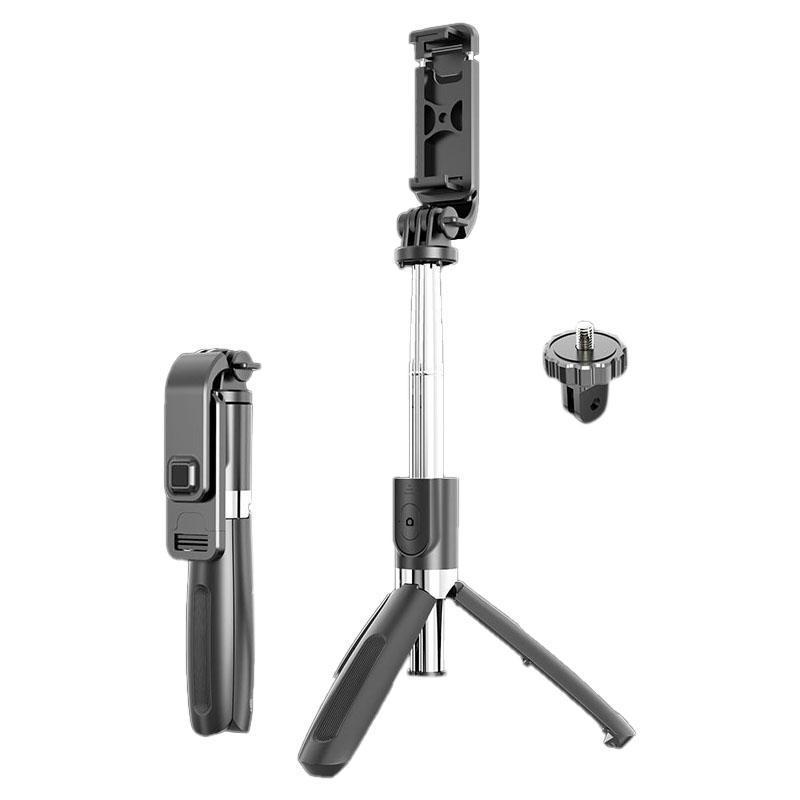 Portable Bluetooth Selfie Stick Tripod Handphone Live Photo Holder Tripod Camera Self-Timer with Remote Control