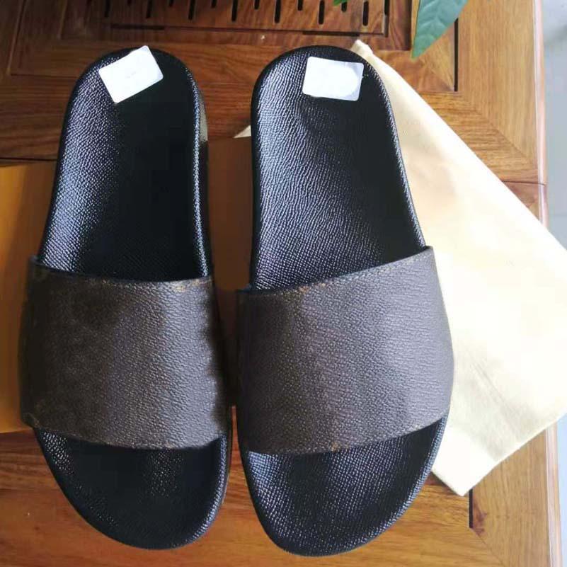 Con caja hombre mujer de alta calidad zapatillas sandalias zapatos planos sandalias zapatos zapatos zapatos casuales zapatos flip flops por zapato10 01