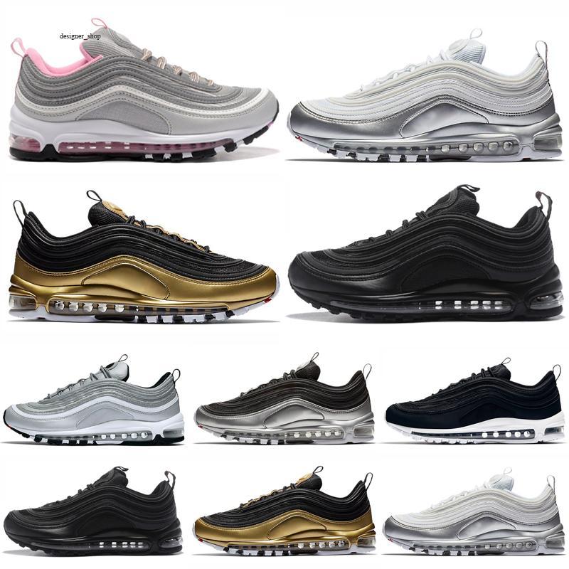 Max 97 2021 Sneakers Aurora Grün Jesus Kinder Schuhe Triple Black White Multi Sliver Bullet Sean Herren Sport Sneakers 28-35