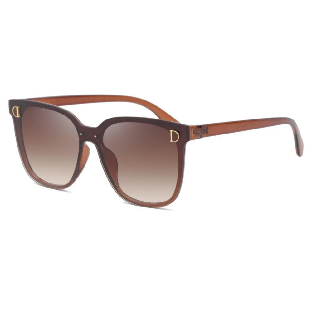 2020 Nuevas gafas de sol de moda Caja grande de las mujeres Gafas de sol de moda NET COREAN RED ROJAS VERSÁTLAS ROJAS 9115
