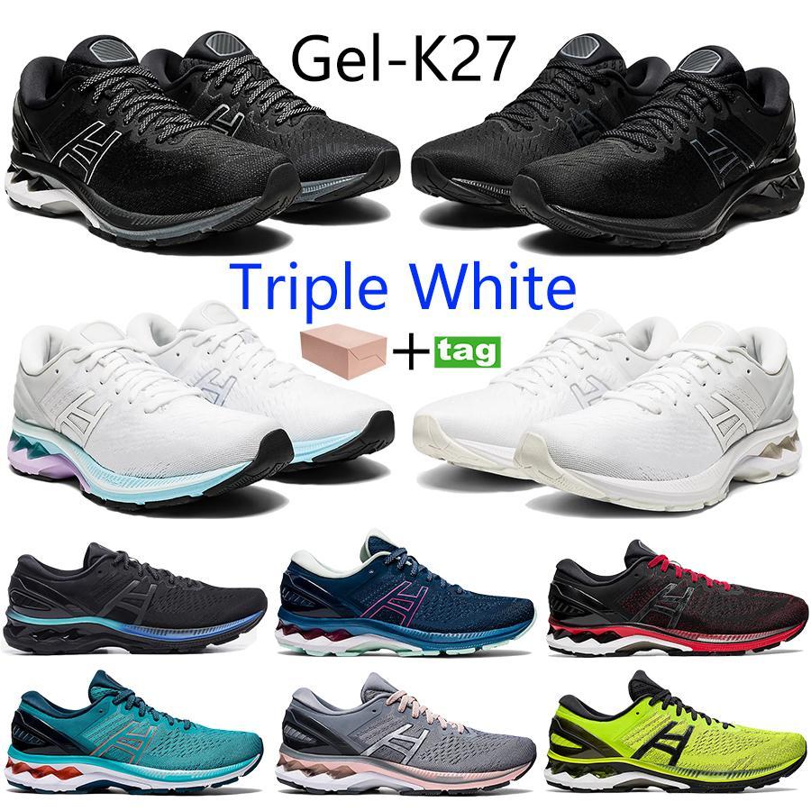 أعلى gel-k27 الرجال النساء الاحذية الثلاثي قزحي الألوان أسود أبيض نقية الفضة الكلاسيكية الأحمر ماكو الأزرق البلاتين رياضة كرة السلة المدربين