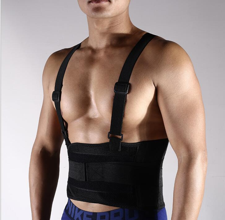 Cintura Apoio Men's Pressurized Strap Adesivo Fitness Weightlifting Warm and Resipatível Engrenagem Protetora