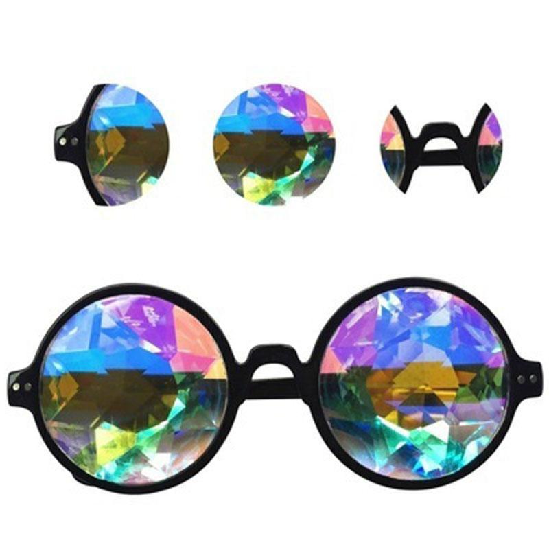 2021 Fashion Kaleidoscope Glasses Kaleidoscope music Festival glasses travel Sunglasses Kaleidoscope Sunglasses party for men women