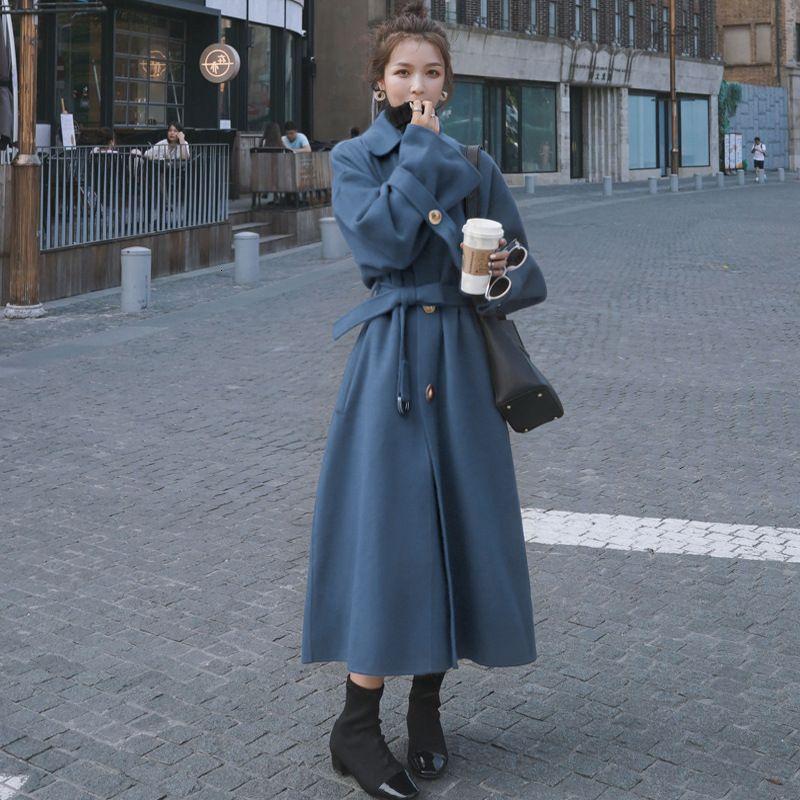 2021 Femmes hiver long tranchée coréenne style coréen neuf surLeKnee coupe-vent dames garder la veste chaude manteau surdimensionné vapeur vêtements g5nz