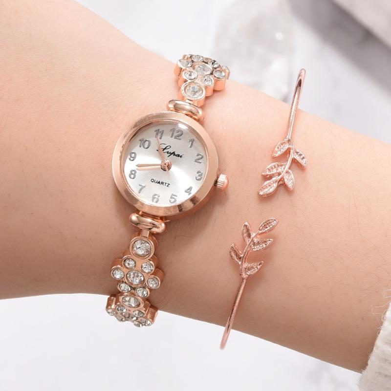 Bracelets LVPAI Luxury Montre Femmes Rose Gold Bracelet Montres Robe De Mode Montre-Bracelet Dames Quartz Sport Horloge Relogio Feminino