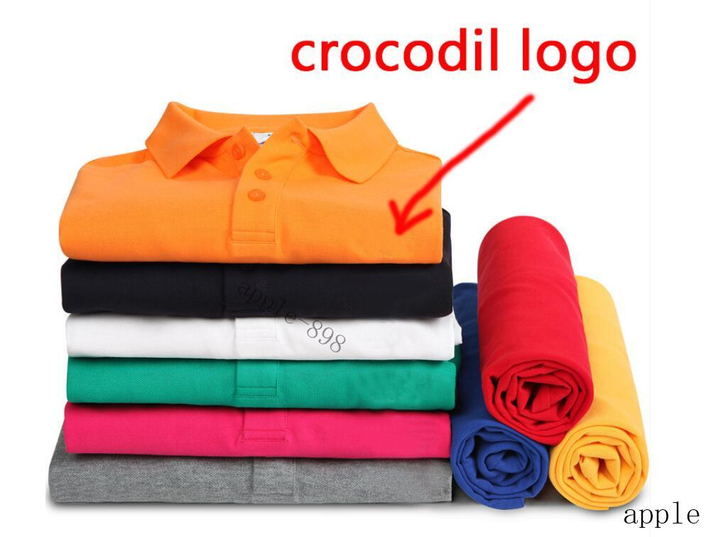 a2 High Quality Crocodile Polo Shirt Men Solid Cotton Shorts Polo Summer Casual Polo Homme T-shirts Mens Polos Shirts Poloshirt