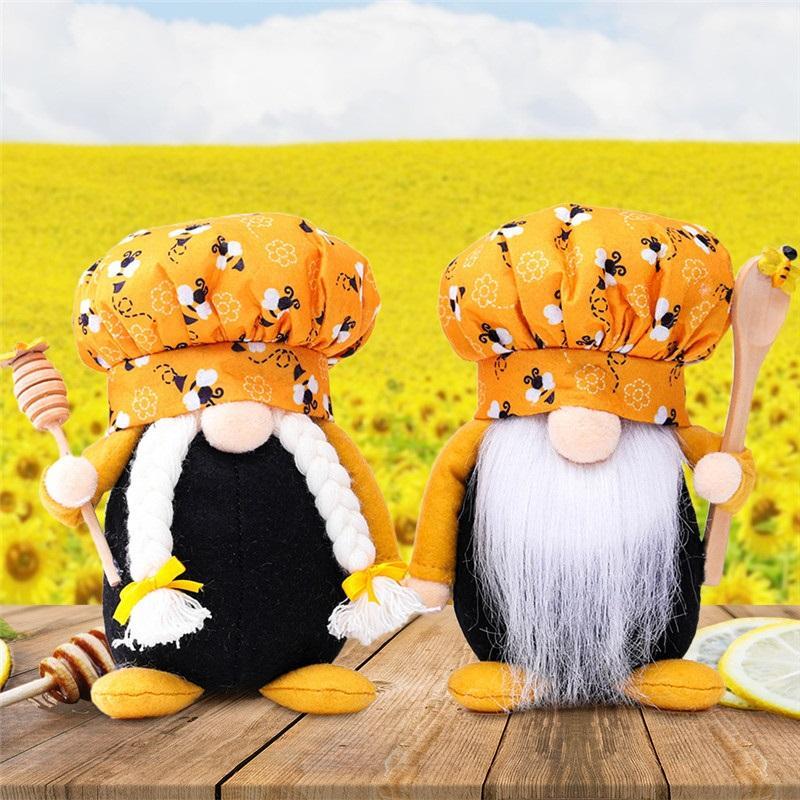 Festival d'abeille peluche barbe de la barbe vieil homme vieil homme poupée de fée poupée de fée vieil homme ornements créatifs