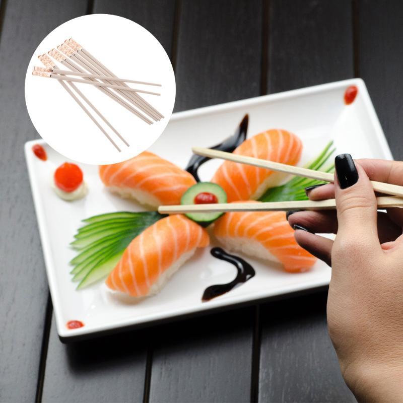 Yemek çubukları 5 pairs kullanılabilir Japon tarzı ev kaymaz alaşım