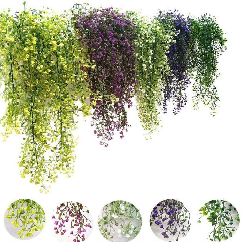 الزهور الاصطناعية كرمة اللبلاب ورقة الحرير شنقا كرمة النباتات وهمية النباتات الاصطناعية الأخضر جارلاند المنزل حفل زفاف الديكور FWD5522