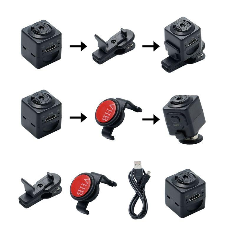 Full HD 960P Micro Camera S5 Sensor de movimiento DVR Camcorder Portátil Deportes Smart DV Digital Voice Voon Grabador de video Tarjeta TF