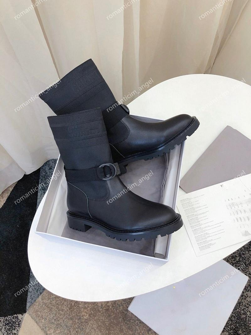 Новый Париж Catwalk Осень зима Новые Роскошки Дизайн Плетение Кожаные Носки Boots Knight Lady Laute Face Толстые подошвы Кожаные Короткими Сапоги 35-40