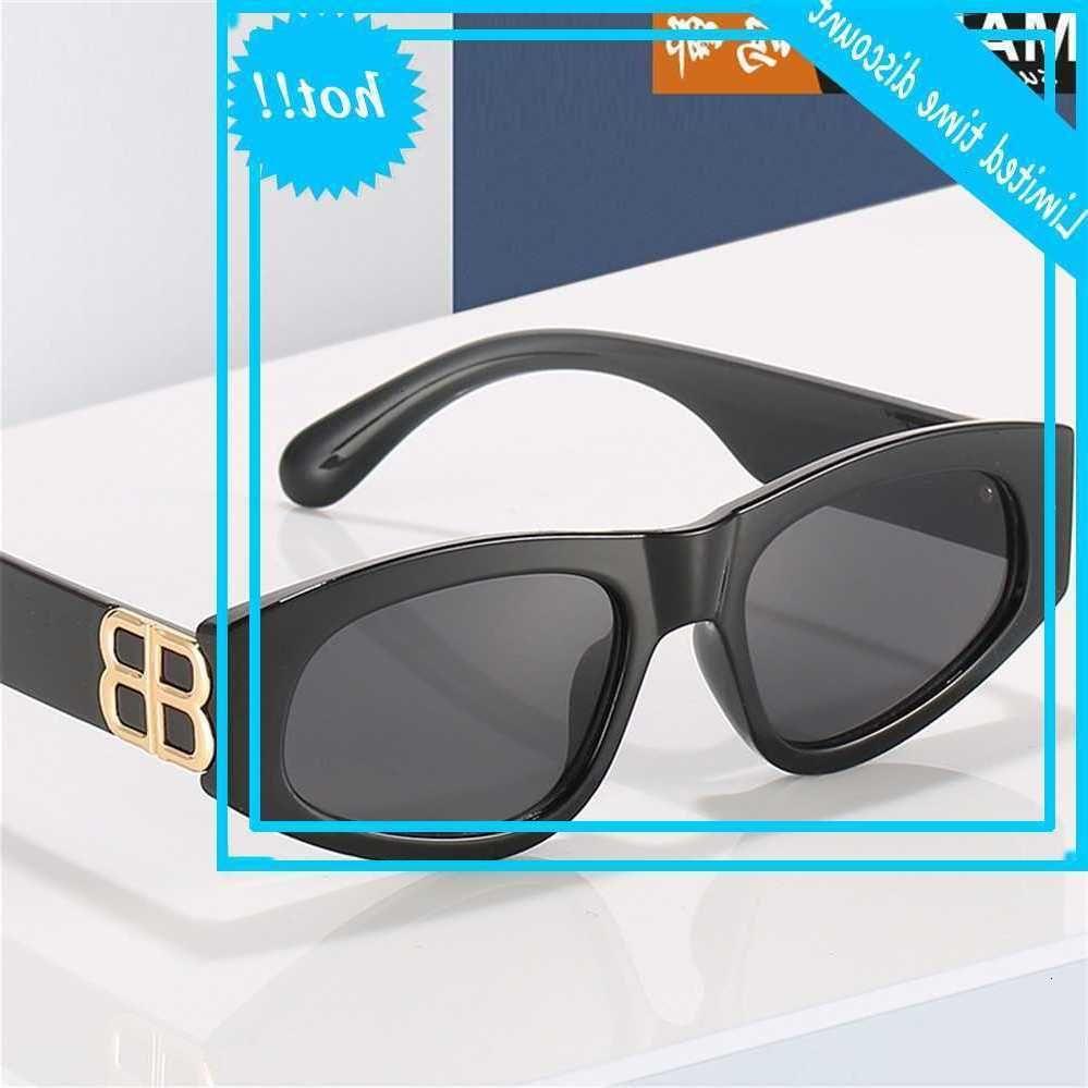 Tendencia de la moda elegante elegante brillante brillante liso cara de temperamento gafas de sol triángulo gafas de ojo de gato