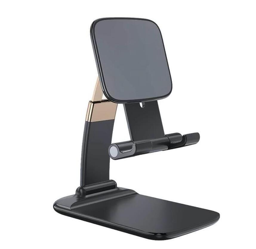 Universal Adjustable Phone Holder Stand for IPhone 12 11 Pro Max Xs Samsung Note 20 Ultra IPad Tablet Foldable Metal Holder Desk Stand