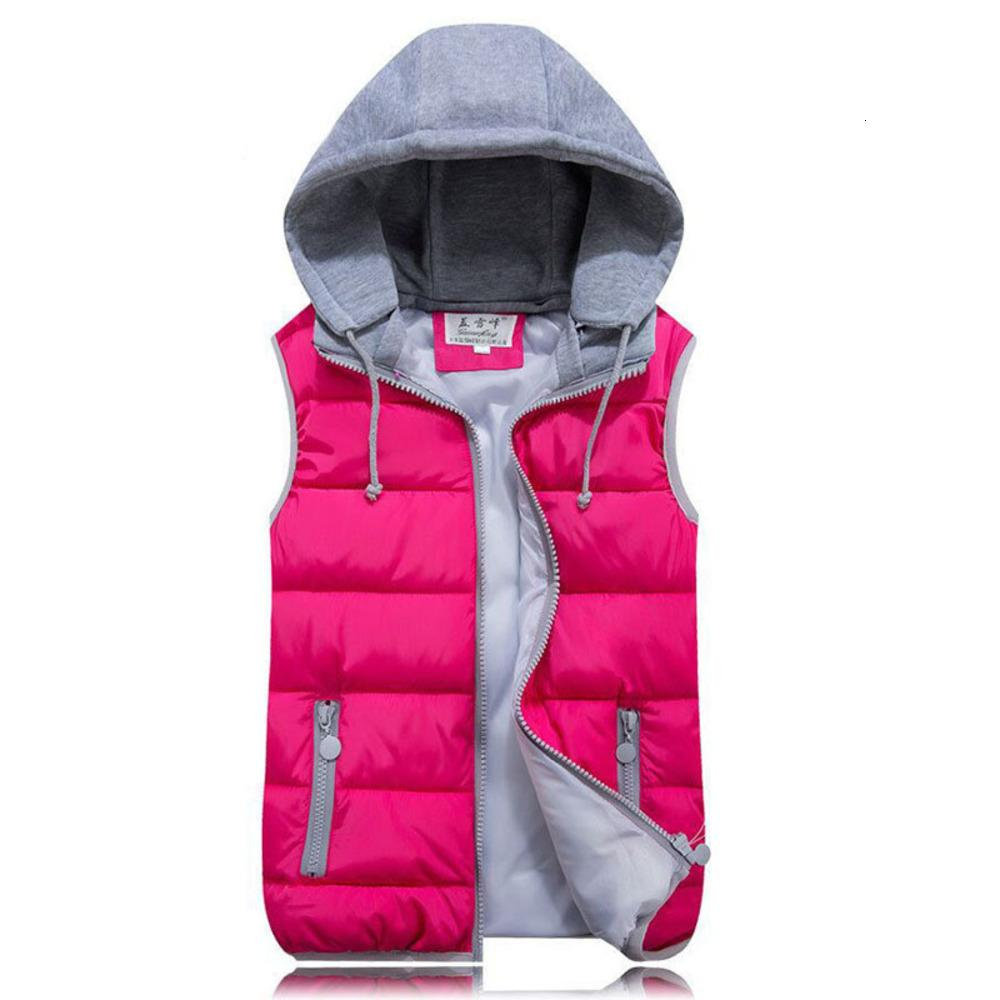 2020 Hot Selling Autumn Winter Basic Jackets Women Female Thickening Vest Down Cotton Slim Warm Waistcoat with A Hood