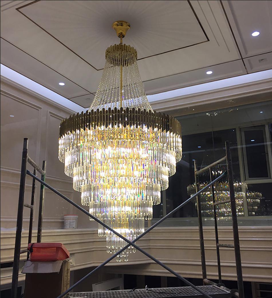 Lüks Modern Kristal Avize Aydınlatma Yüksek Kalite Altın Luster De Cristal Oturma Odası Yatak Odası LED Lamba Için