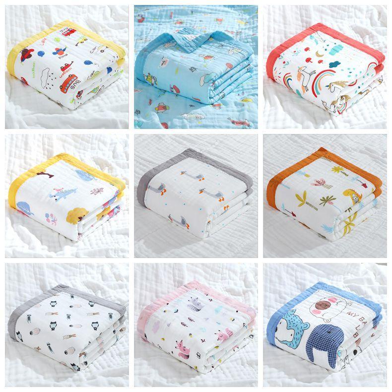 Baby Bath Towel Printing cartoon Children Towelling Quilt Infant Cotton Blanket Animal Baby Swaddle Newborn Bathroom Towels Robes WMQ566