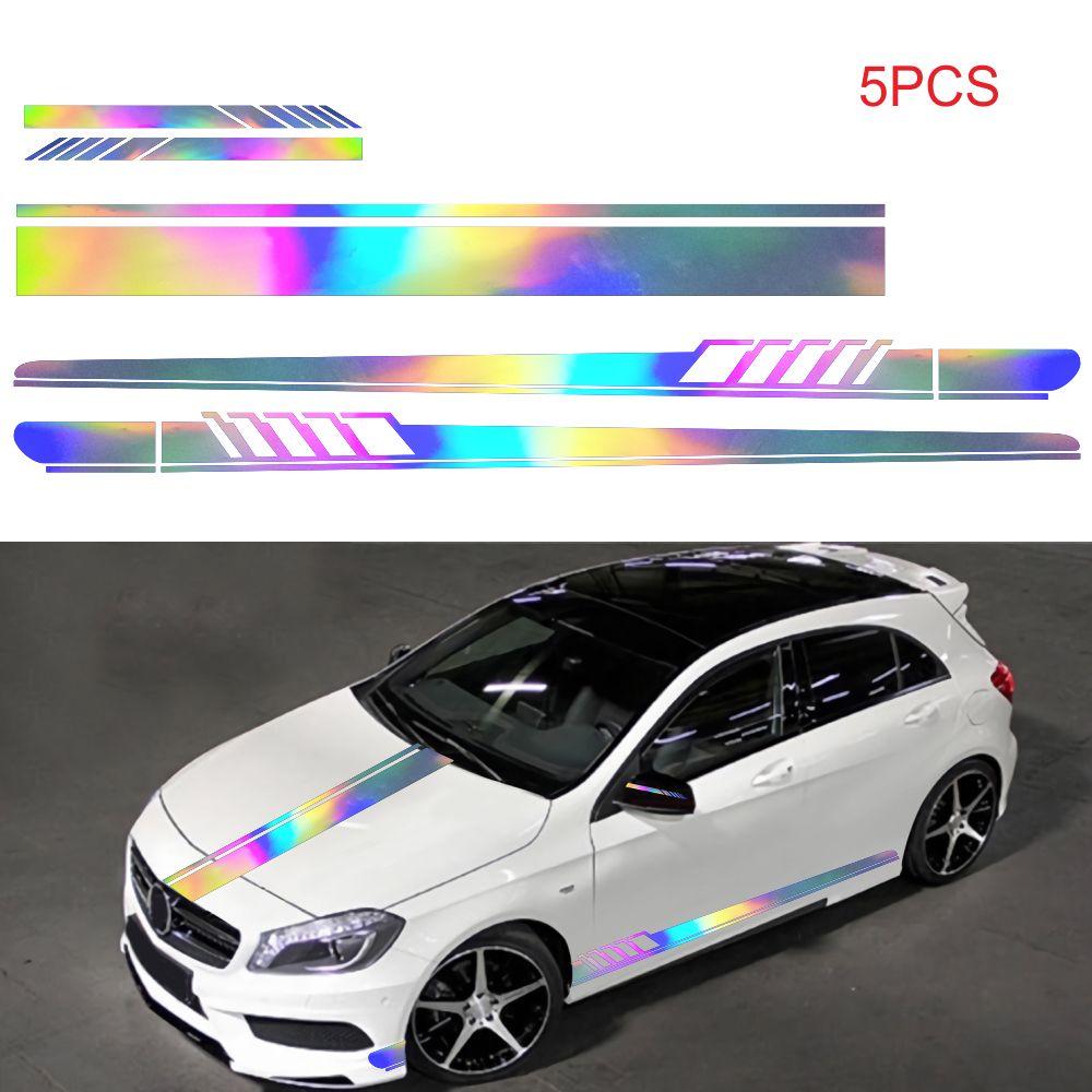 패션 WRC 스트라이프 자동차 커버 비닐 레이싱 스포츠 데칼 헤드 자동차 스티커 랩 비닐 스티커 자동차 머리 장식
