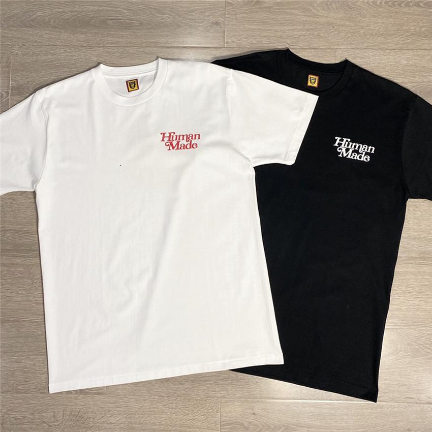 2021 Новые девушки Дон не плачь Человека Сделанная футболка Мужчины Женщины Черный Белый Письмо Печать Случайные футболки Топы Tee G0x3