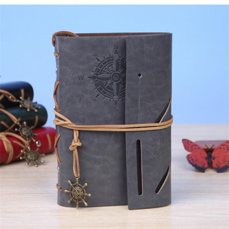 12x18cm 빈티지 해적 메모장 일기 노트북 의제 가짜 가죽 커버 Filofax 참고 학교에 대한 책 참고 도서 한국 편지지 1366 T2