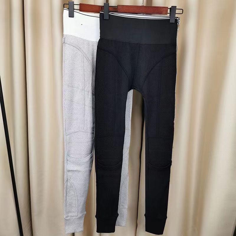 Frühling und Herbst 2021 Neue personalisierte hohe Taille und lange Beine Leggings mit Buchstaben Gurtband Logo enge Hose frei von Porto