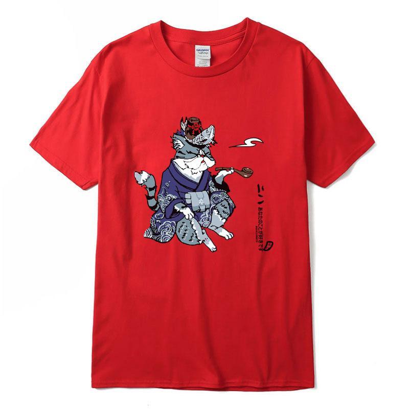 Xin Yi Homme T-shirt 100% coton Haut de la qualité Casual manches courtes Cool Cat Impression Hommes T-shirt Col O-cou tricoté tissu confortable