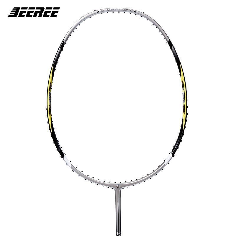 Jeeree Süper Kuvvet 26 Badminton Raketleri Adam ve Bayan Oylama Raket Karbon Üst Kalite Fiber Yüksek Çekme İnce Mil Rackets