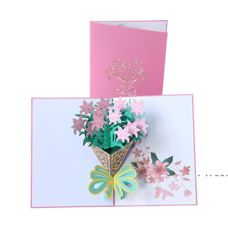 Mother's Day Card 3D Pop-Up Flowers Birthday Card Anniversary Gifts Postcard Mothers Father's Day Greeting Cards FWA3816