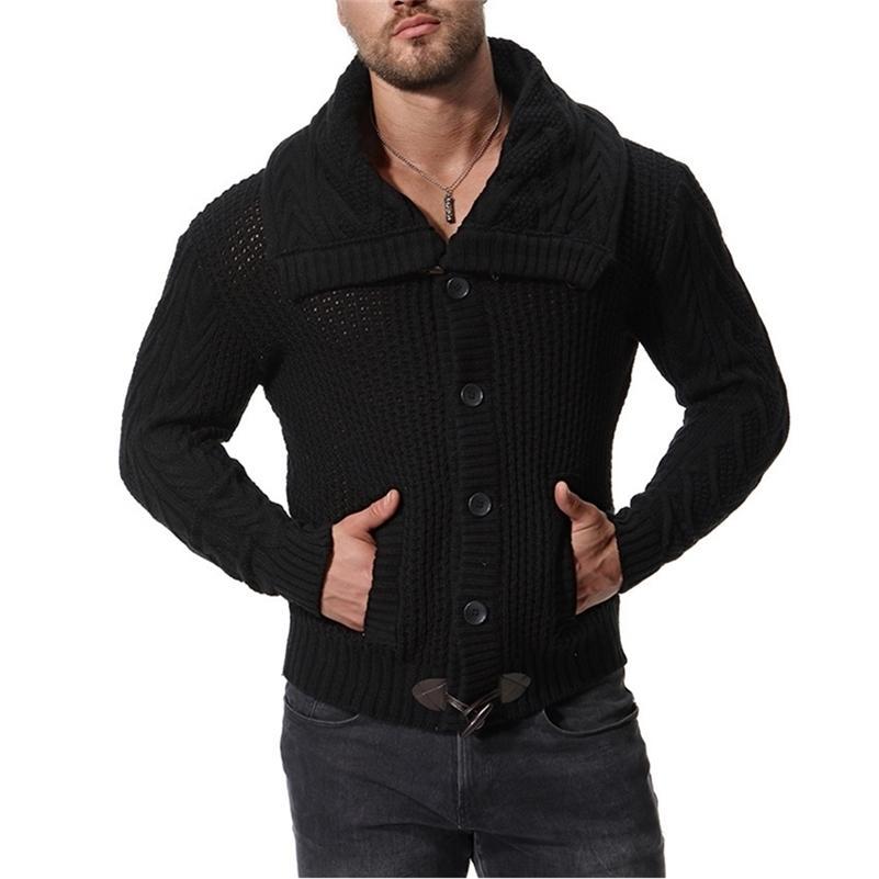 Мужчины Slim Fit Rappers Thib Szipper Теплый зимний бизнес стиль мужской свитер LJ200917