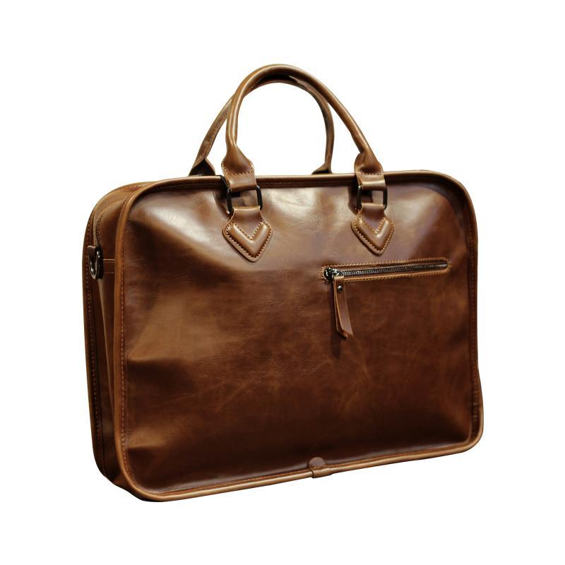 Hot Fashion PU-Leder Aktenkoffer für Mann Solid Bank Ol Herren Umhängetasche Arbeit Laptoptaschen Sommer Leder Herren Aktentasche Crossbo
