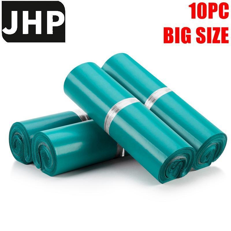 Bolsas de embalagem 10 pc cor verde grande tamanho PE auto-adesivo poli poli mala, plástico envelope courier armazenamento pós-mailismo pacote