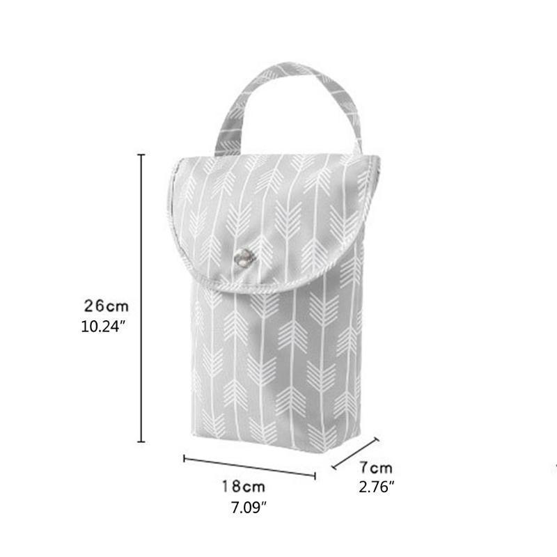 다기능 아기 기저귀 가방 재사용 가능한 패션 방수 주최자 휴대용 용량 미라 가방 천 기저귀