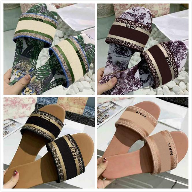 45 цветные парижские женские сандалии тапочки летние девушки пляжные сандалии SOODALS SLISES FLIP FLOPS LOAFERS Сексуальные вышитые тапочки с коробкой большого размера35-42