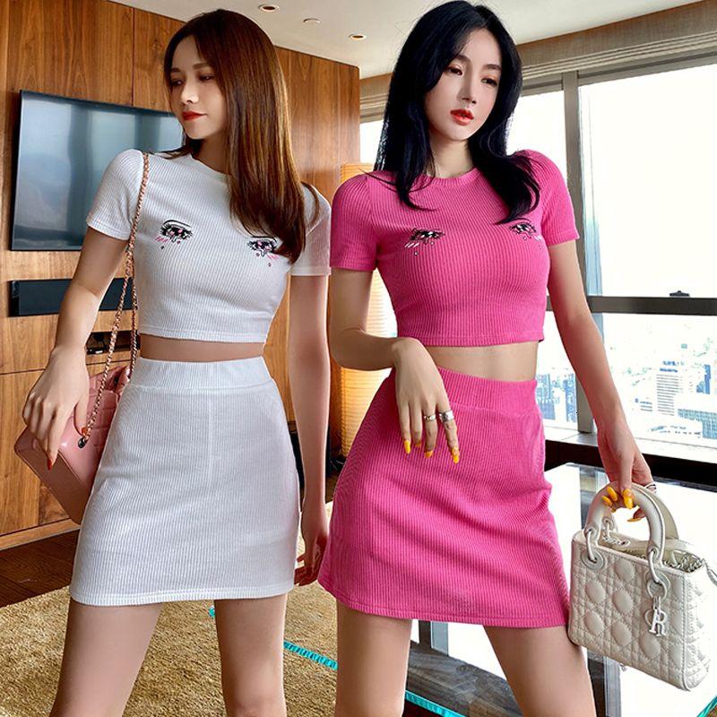 2021 NOUVEAU ÉTÉ SUPÉRATION DE T-shirt Sexy T-shirt Sexy T-shirt Sexy + Taille High Taille Suit Femme Coton Comfy Coton Tees E38i