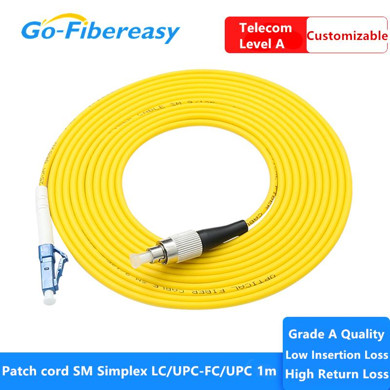 Cordon de patch à fibre optique LC / UPC-FC / UPC 3M MODE SIMPLEX Simplex Fibre Cordon Câble PVC Câble de la fibre optique Cordon de cordon de cordon