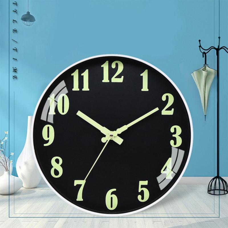 Relógio de parede Número luminoso Pendurado relógios Calma Dark Brilhante Relógios de Parede Relógios Modernas Decoração Home Presente Moderno