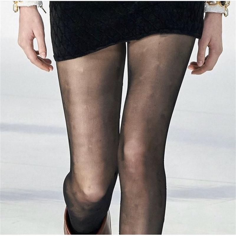 Classic Letter Tights Sexy Meia-calça Meias Mulheres Seda Calças de Seda Elastic Slim Pantyhose Vestido Meias Bota Aquecedor Aquecedor