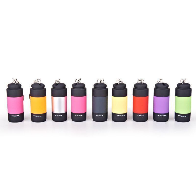 미니 LED 키 체인 손전등 충전식 토치 라이트 슈퍼 미니 키 체인 손전등 가정 및 야외 활동을위한 조명 도구 130 x2