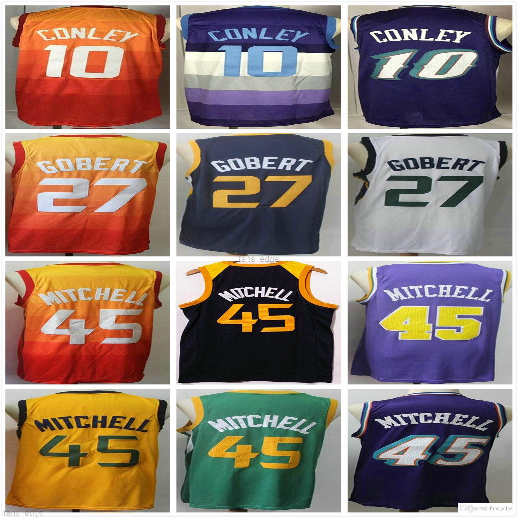 NCAA كلية دونوفان 45 ميتشل جيرسي بالجملة رودي 27 جوبيرت مايك 10 كوللي أزرق أبيض برتقالي الأرجواني رجل أعلى كرة السلة الفانيلة