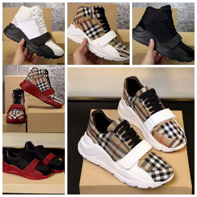 Yüksek kaliteli Sneaker Rahat Ayakkabılar Gerçek Deri Kabuk Sneakers Eğitmenler Çizgili Ayakkabı Moda Eğitmen Adam Kadın Için Kadın Kusur KUTUSU 01