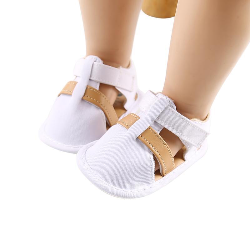 أول مشوا طفل صغير الصنادل الصيف عارضة القطن الشقق مغلقة تو أحذية مضادة للانزلاق