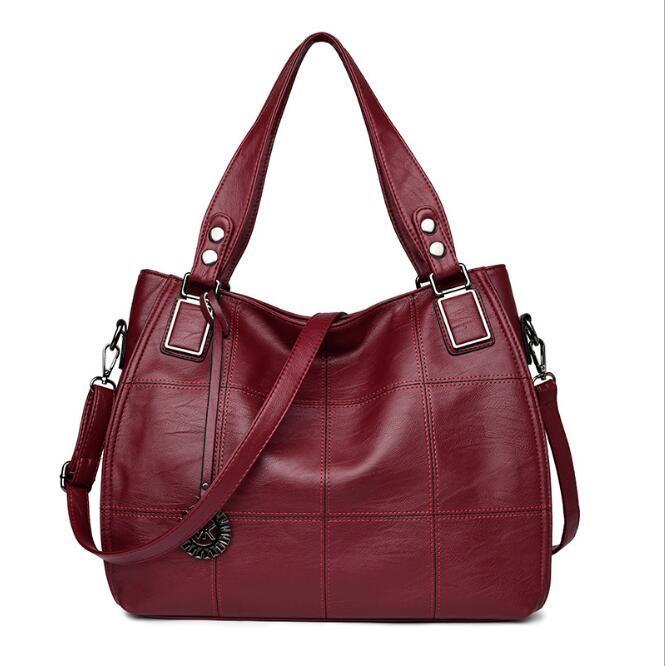 New Shoulder Bags Leather Handbags Wallets High Quality For Women Bag Totes Messenger Bags 2pcs/set