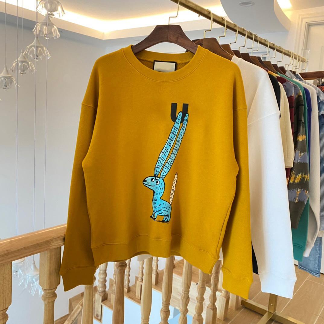 2021ss Spring and Summer Nouveau Coton de haute qualité Impression à manches courtes Panneau à col rond T-shirt Taille: M-L-XL-XXL-XXXL Couleur: Noir Blanc D23X2