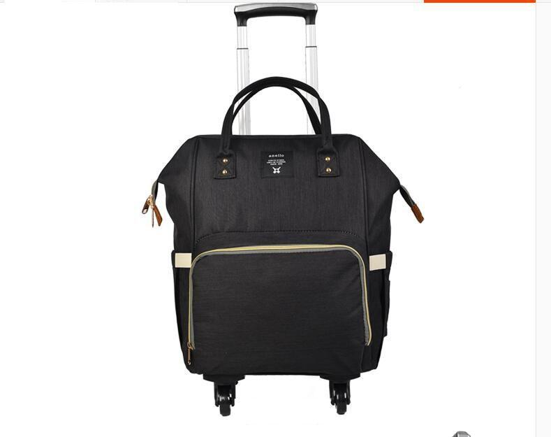 School Bags Women Travel Trolley Bag Rolling Backpack Mother With Wheels Wheeled For Luggage