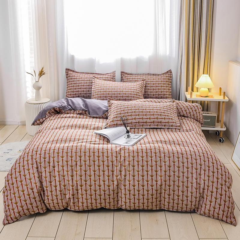 Winter bedding set 3/4 piece bedding set Large comforter King Queen size luxury home textile